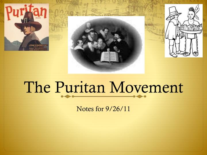 The puritan movement