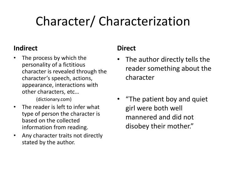 Character/ Characterization