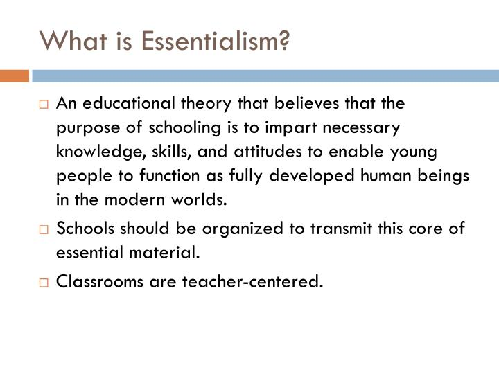 What is Essentialism?