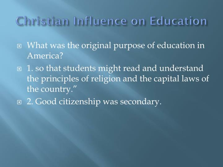 Christian Influence on Education