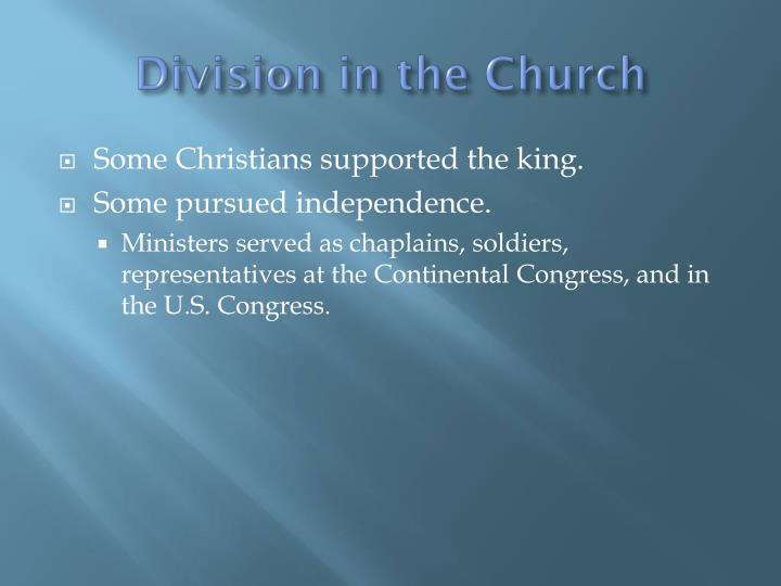 Division in the Church