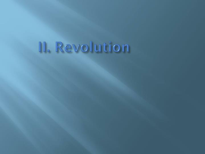 II. Revolution