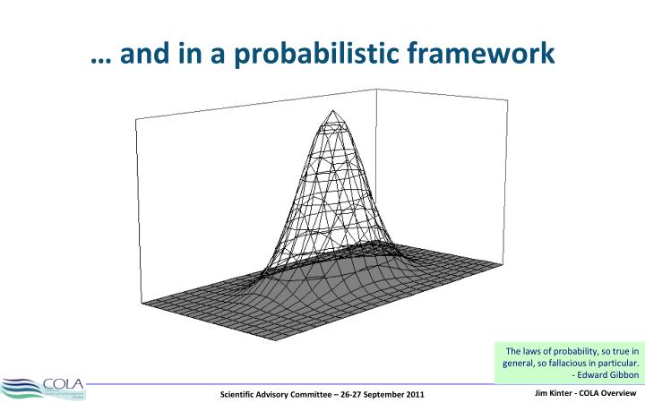 … and in a probabilistic framework