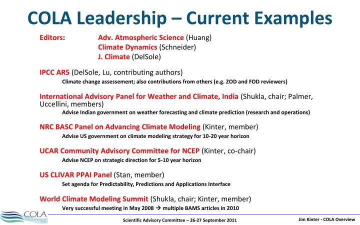 COLA Leadership