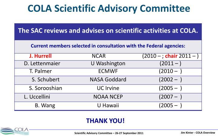 COLA Scientific Advisory Committee
