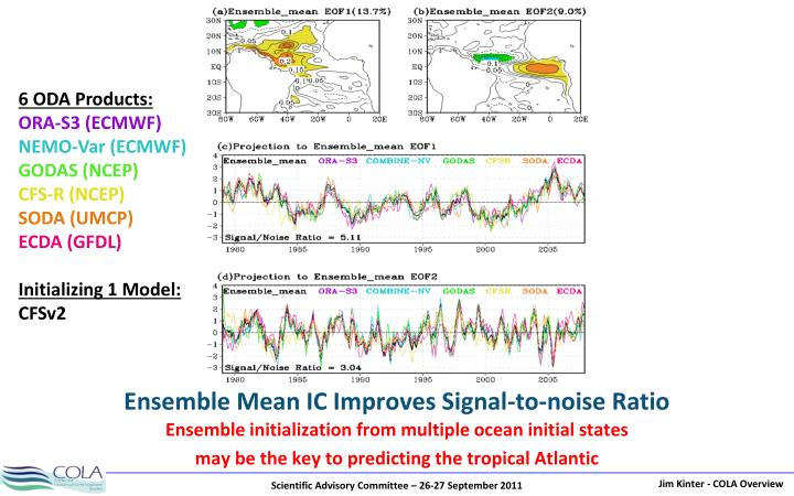 Ensemble Mean IC Improves Signal-to-noise Ratio