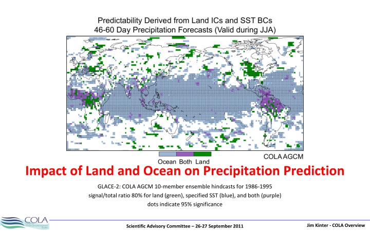 Impact of Land and Ocean on