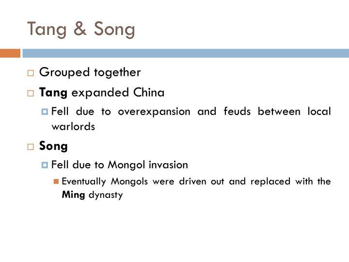 Tang & Song