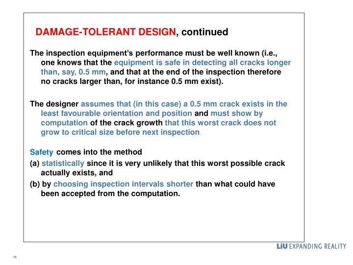 Damage-tolerant