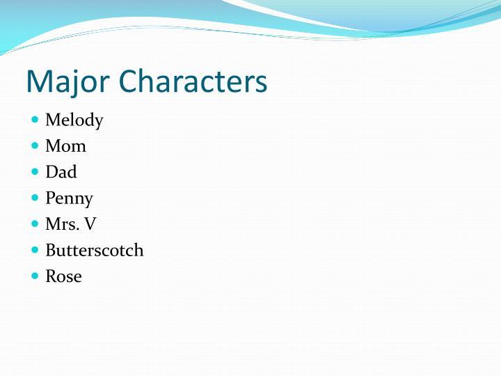 Major Characters