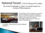 national forum 13 th 14 th february 2014 sydney