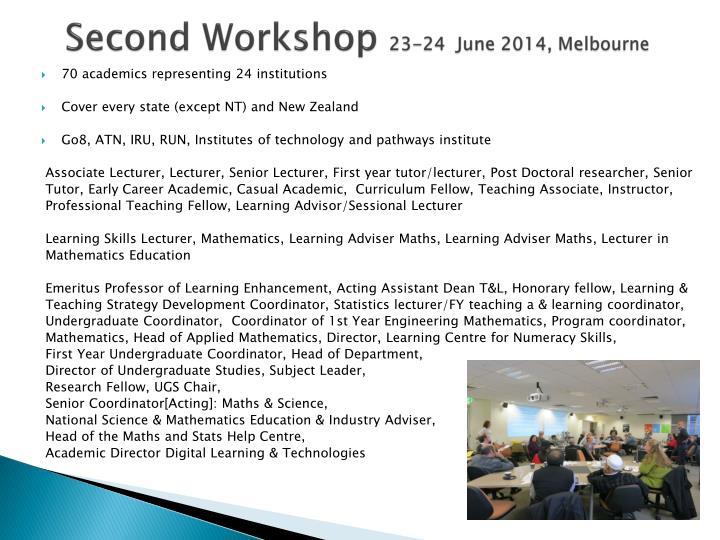 Second Workshop
