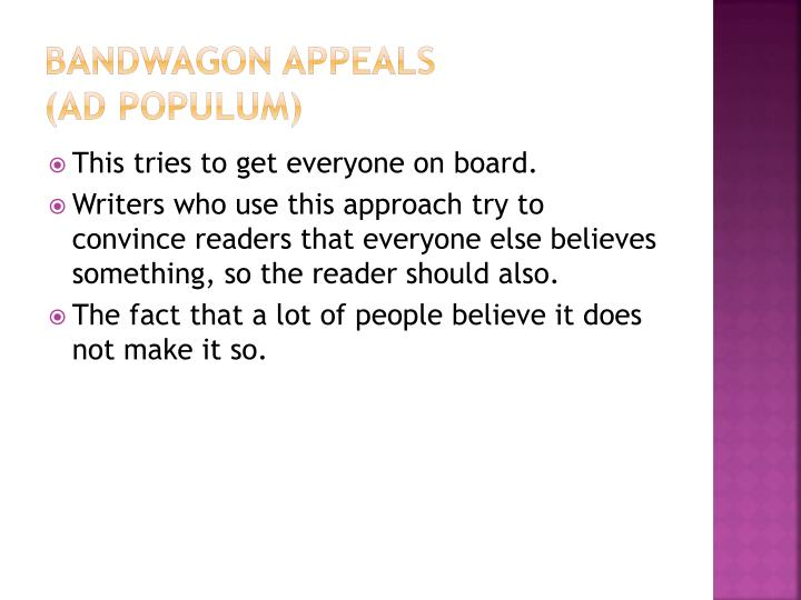 Bandwagon Appeals