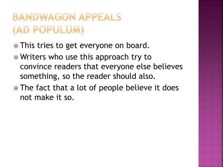 Bandwagon Appeals