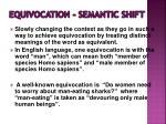 equivocation semantic shift