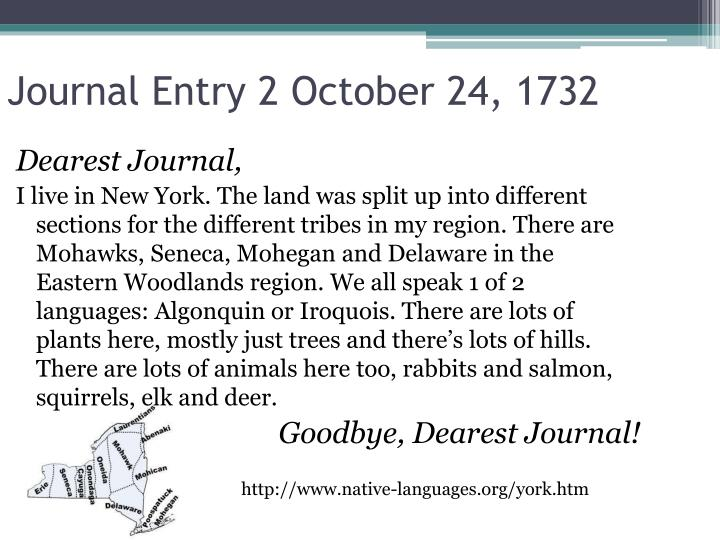 Journal Entry 2 October 24, 1732