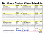 mr moore chabot class schedule