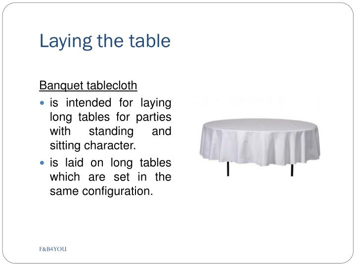 Laying the table1