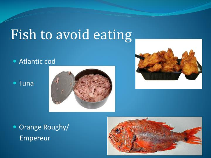 Fish to avoid eating