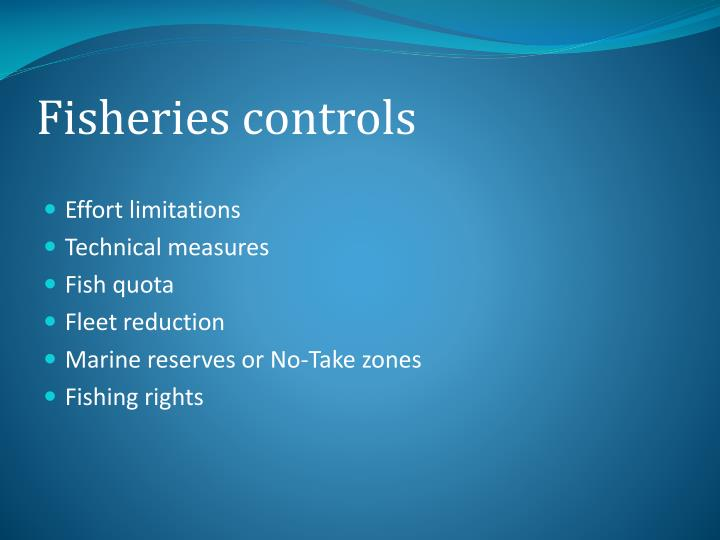 Fisheries controls