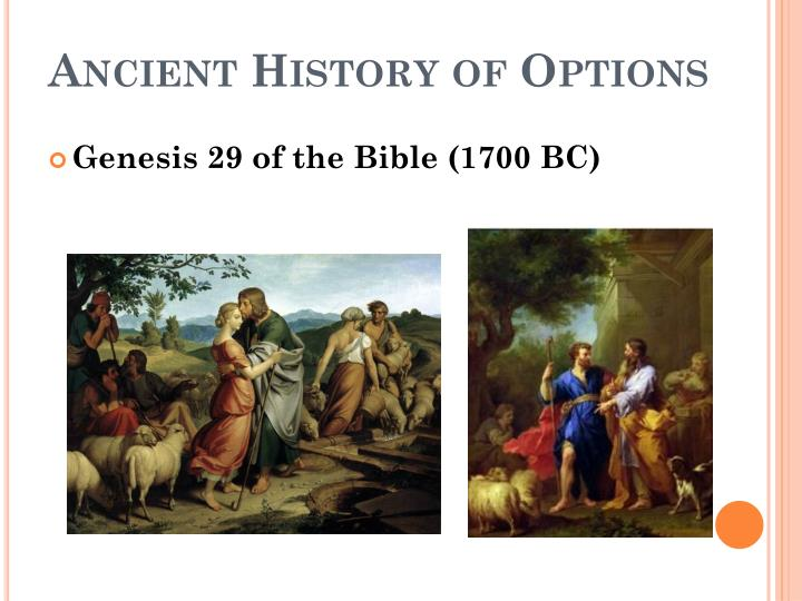 Ancient History of Options