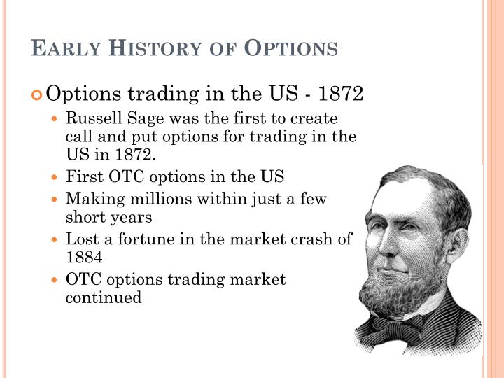 Early History of Options