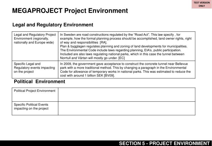 MEGAPROJECT Project Environment