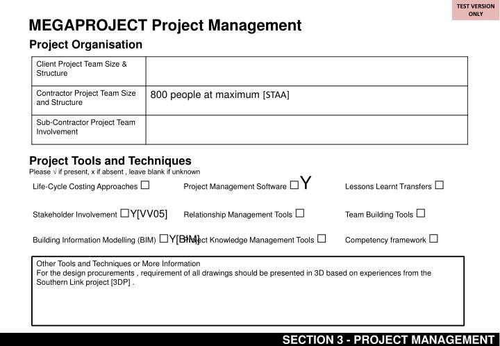 MEGAPROJECT Project Management
