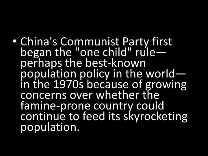 China: One Child