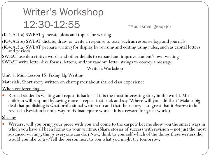Writer's Workshop