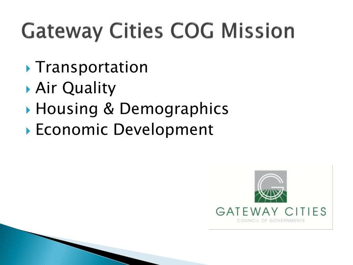 Gateway Cities COG Mission