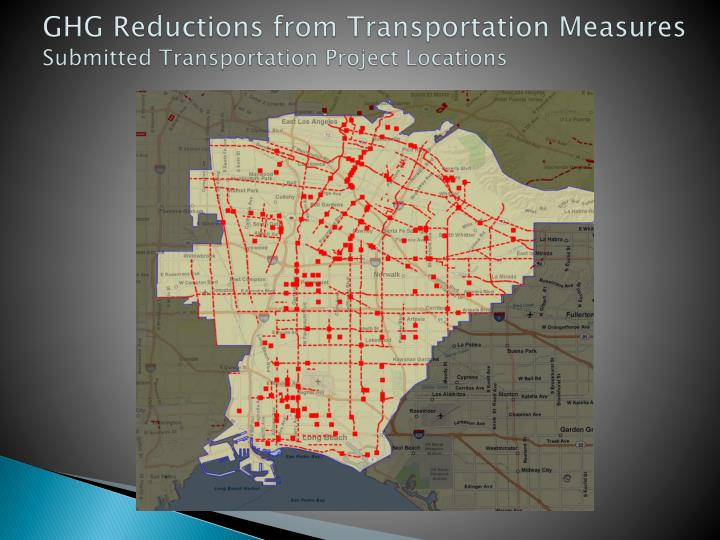 GHG Reductions from Transportation Measures