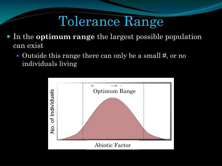 Tolerance Range