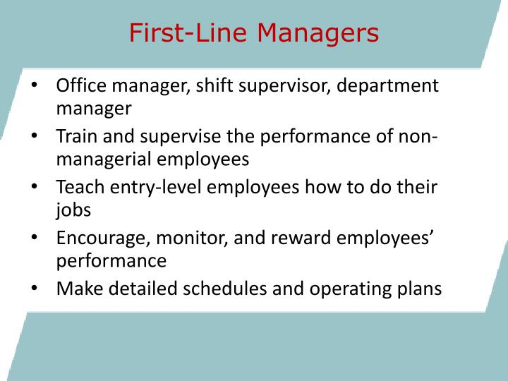 First-Line Managers