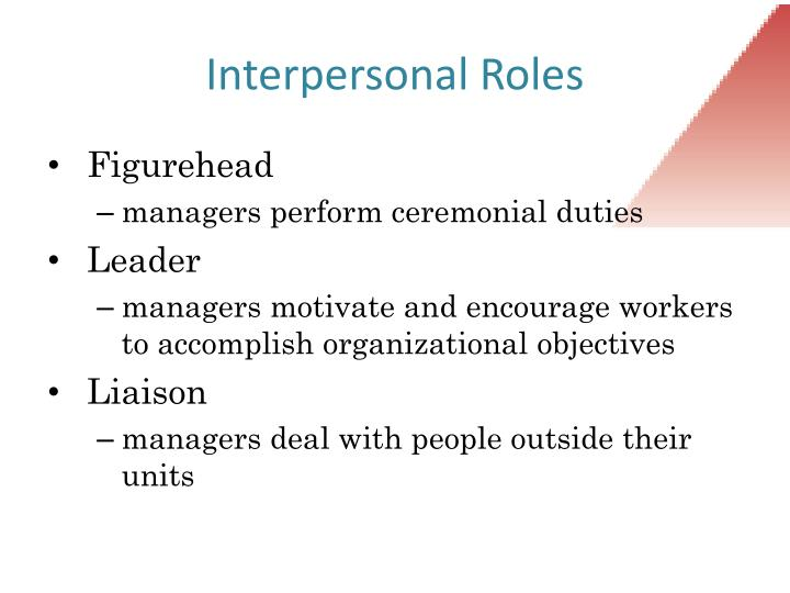 Interpersonal Roles