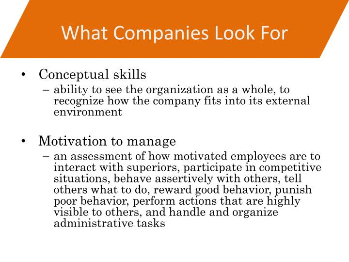 What Companies Look For