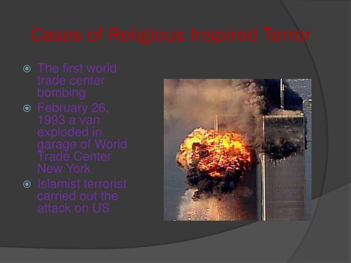 Cases of Religious Inspired Terror