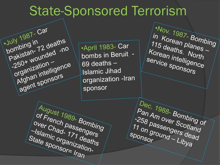 State-Sponsored Terrorism