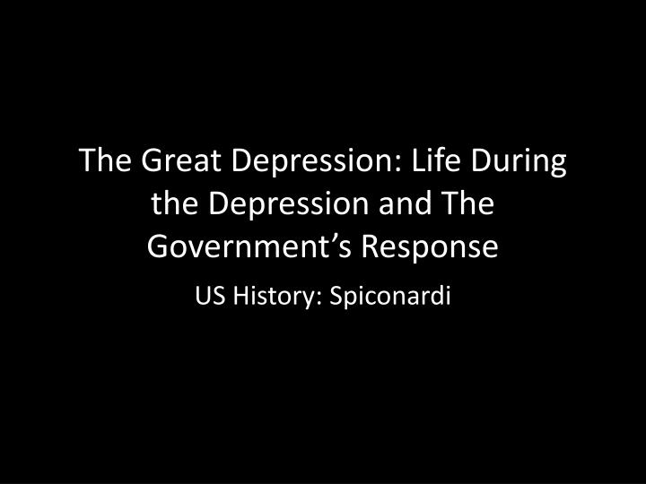"was the great depression to blame Why should students learn about the great depression our grandparents and great-grandparents lived others blame the depression on the ""excesses"" of the."
