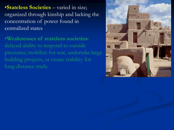 Stateless Societies