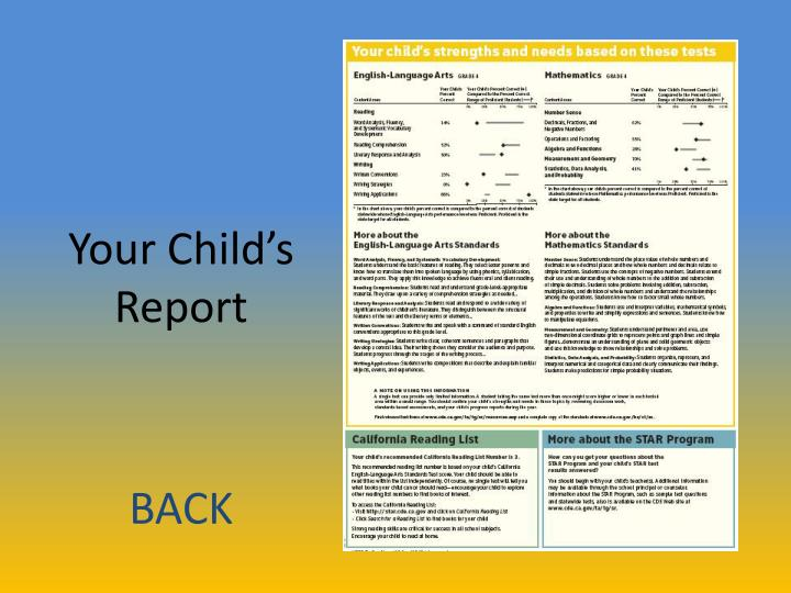 Your Child's Report