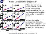 noise vs spatial heterogeneity
