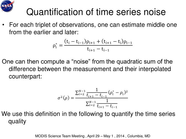 Quantification of time