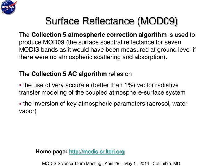 Surface Reflectance (MOD09)