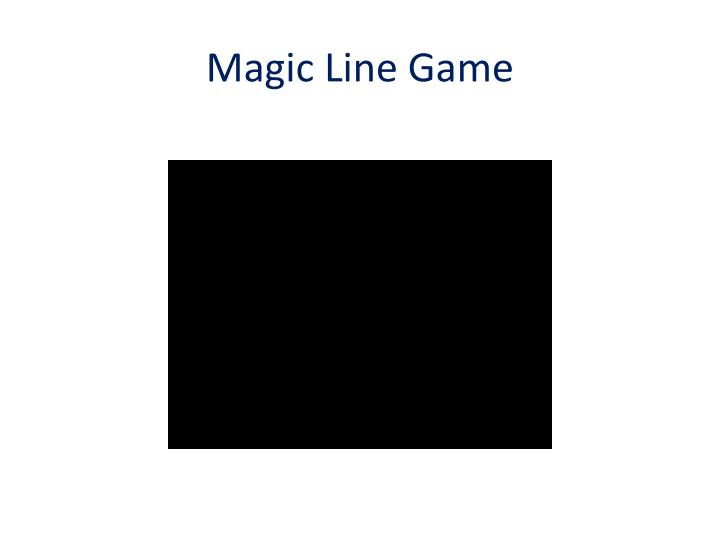 Magic Line Game