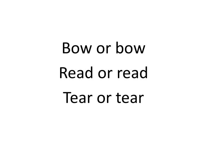 Bow or bow