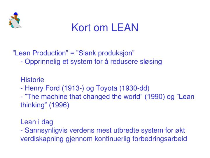 Kort om LEAN