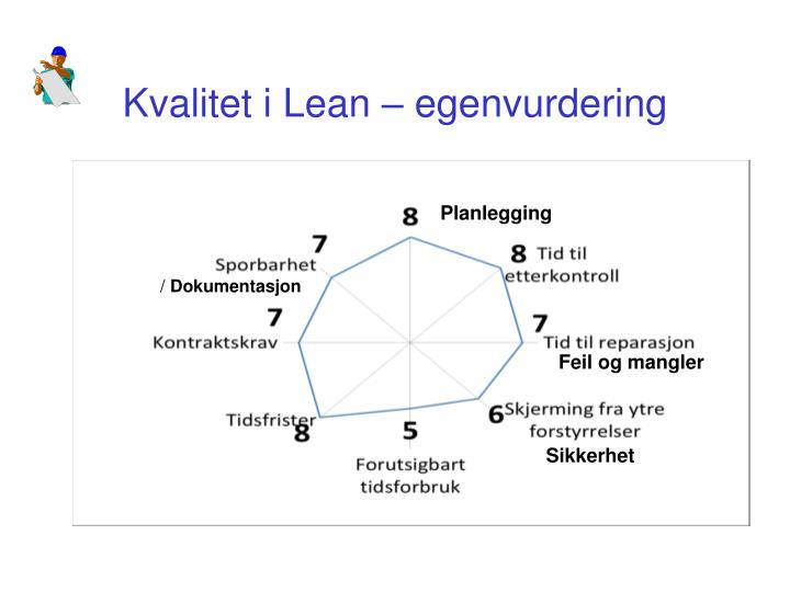 Kvalitet i Lean –