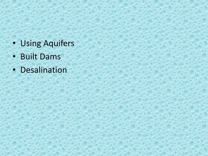 Using Aquifers