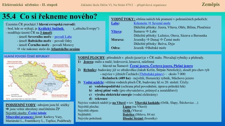Elektronická  učebnice - II. stupeň